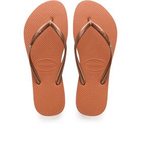 havaianas Slim Logo Flips Women Orange Cyber